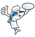 Chef fish mascot the left hand best gesture vector