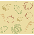 Seamless with vegetables vector
