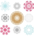 Set of spirograph for design vector