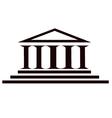 Columns ancient historic building vector