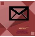 Mail envelope flat modern web design on a flat vector