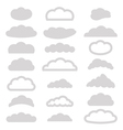 Set of cloud icons vector