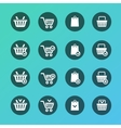 Set of shopping cart icons vector