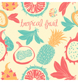 Tropical fruit pattern vector