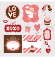Set of valentines day elements vector
