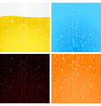 Drinks backgrounds collection vector