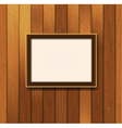 Picture frame on old wooden wall vector