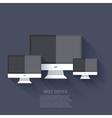 Modern flat technology background eps 10 vector