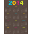 Calendar year template vector