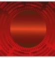 Abstract dark red technical circle background vector