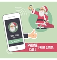 Christmas phone call from santa vector
