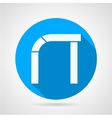 Round icon for curved arch vector