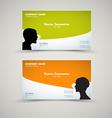 Set of modern business card templates vector