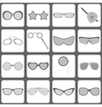 Sunglasses and glasses icons vector