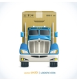 Logistic icon truck vector