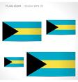 Bahamas flag template vector