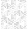White geometrical flower like shapes seamless vector