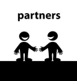 Business handshakes vector