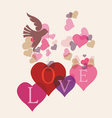 Love message card with birds vector