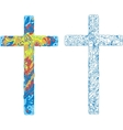 Catholic ornamented cross for easter holiday vector