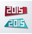 Modern 2015 banners new year background vector