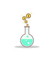 Isolated cartoon formula to getting rich vector