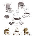 Coffee cup icons vector