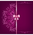Elegant background and ornament with bow vector