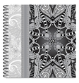 Grey design of spiral ornamental notebook cover vector