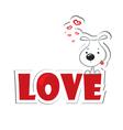 Dog loving vector