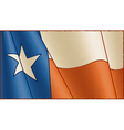 Vintage texas flag background vector