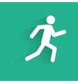 Running man icon silhouette with shadow vector