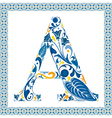 Blue letter a vector