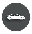 Car sign icon sedan saloon symbol vector