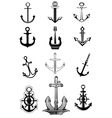 Modern and vintage anchor icons vector