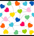 Colorful heart random arrange pattern design vector