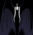 Darkness girl vector