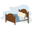 Kid bed vector