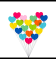 Colorful valentine day or birthday greeting design vector