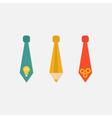 Businessman neck tie icon set light bulb pencil vector