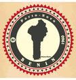 Vintage label-sticker cards of benin vector