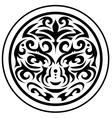 Tribal face circular emblem vector