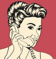 Woman chatting on the phone vector