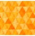 Orange vintage textile triangles seamless pattern vector