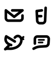 Minimalistic contact icons vector