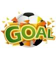 Goal with football ball vector