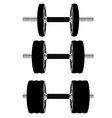 Dumbbell set vector