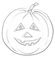 Pumpkin jack o lantern contours vector
