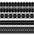 Four black ribbons vector