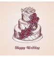Wedding cake card vector